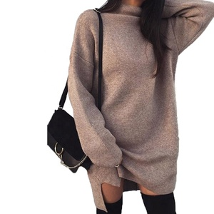 2018 winter new European and American winter cotton knitted sweater loose sweater casual knitted sweater women clothing