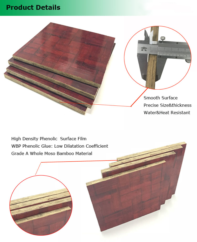 18mm bamboo veneer plywood for building construction