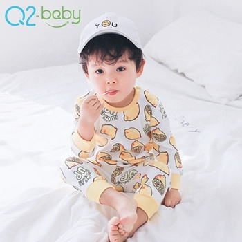 Summer baby cartoon cotton casual t-shirt+pants children clothing sets 1835