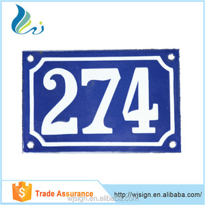 Factory Direct Can Noctilucous Metal Custom Room Number Door Plate For Hotel