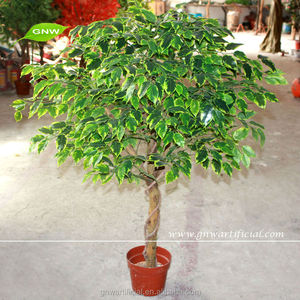 GNW BTR043 Artificial Plant Plastic Tropical Tree with wood branches for garden decoration