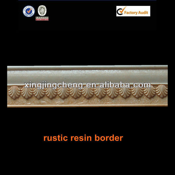 rustic ceramic listello border