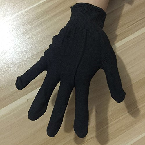 Queenbuygo Heatproof Protective High Temperature Resistant Finger Glove for Hair Straightener Hairdressing Hair Curler Flat Irons Flat Hair Styling - Left Hand