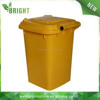 Medical waste 50L industrial 4 wheels trash bins PP plastic industrial 4 wheels trash bins