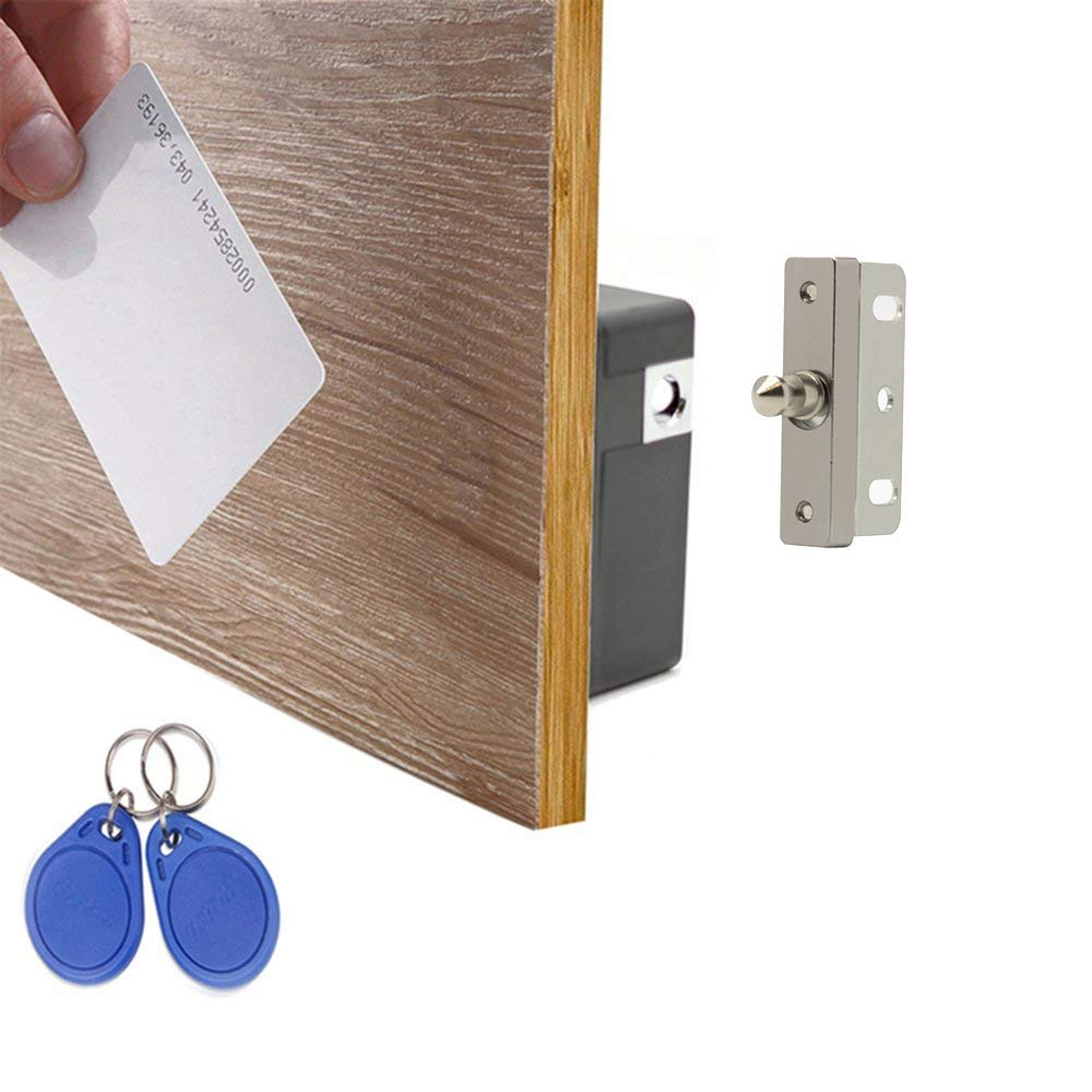 WOOCH Electronic Cabinet Lock Kit Set, Hidden DIY Lock for Wooden Cabinet Drawer Locker, RFID Card/Tag/Wristband Entry