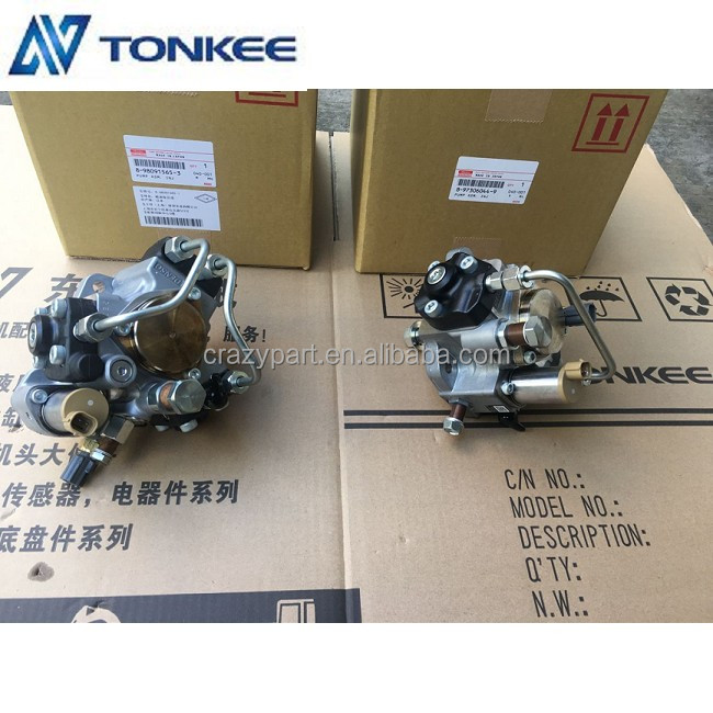 6HK1 4HK1 eletronic fuel injector high pressure oil pump