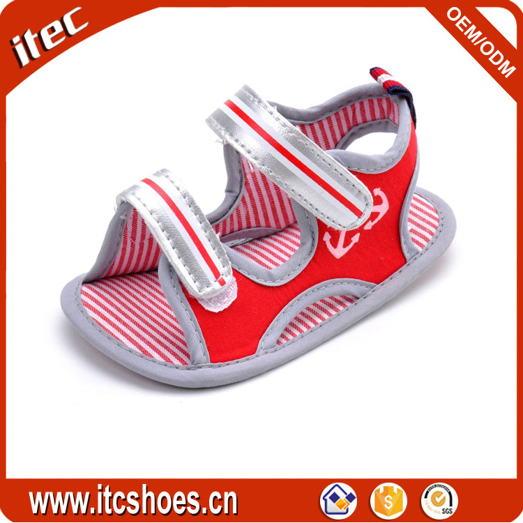 New fanshion summer soft sole prewalker <strong>sandals</strong> wholesale boys non-slip <strong>sandal</strong> baby