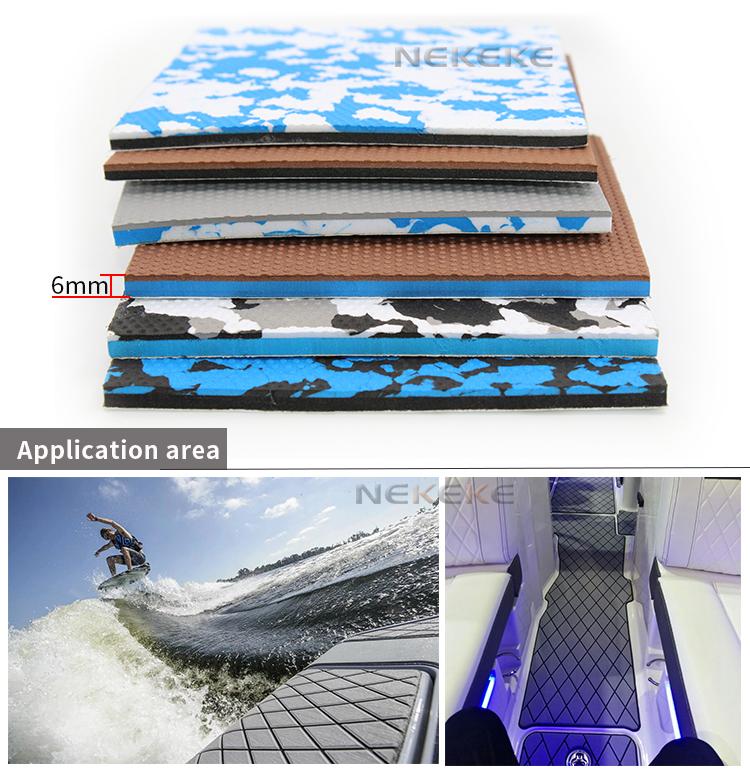 NEKEKE durable EVA foam deck pad boat yacht sails deck flooring decking Mat