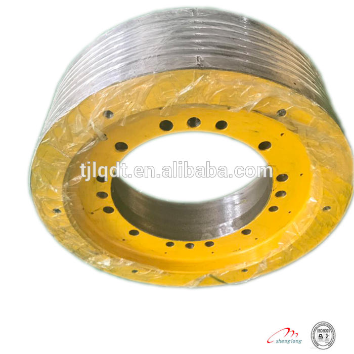 Durable nodular cast iron elevator traction wheel480*5*12