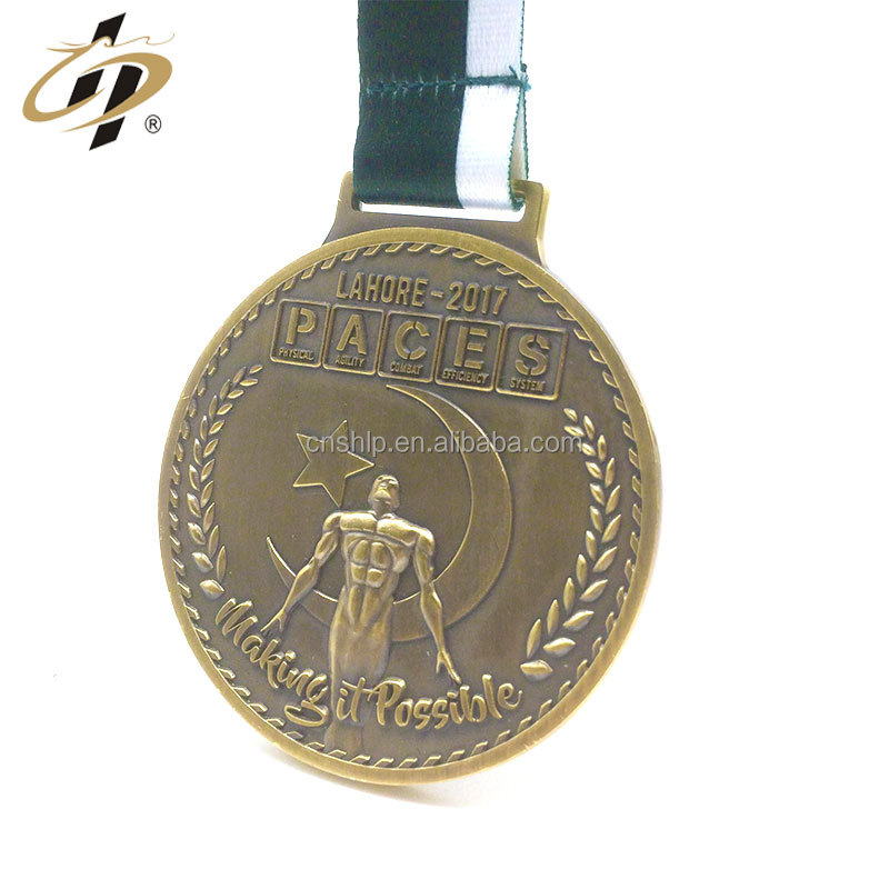 Custom zinc alloy bronze metal made own 3D sports medal