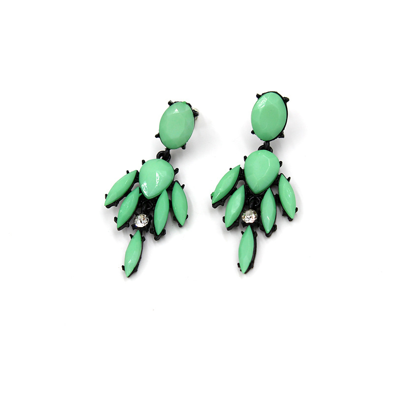 Fashion earring designs new model earrings New design Green resin earrings