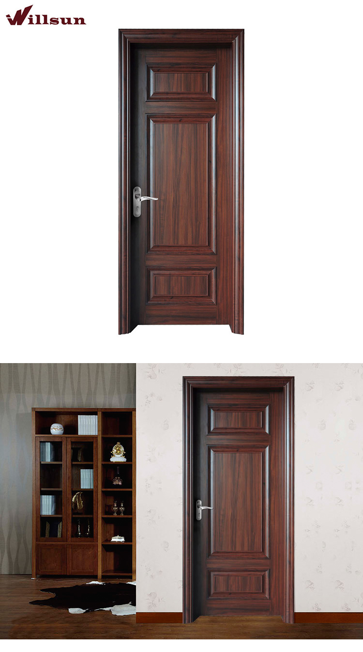 Factory Custom Size Apartment Entry Fancy Wood Restaurant Bathroom Doors