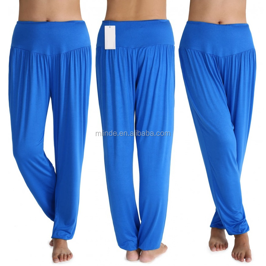 Wholesale India Delhi Hip Hop Lady Women Casual Sport Leisure Yoga Fitness Bloomers Harem Pants Solid Slacks Long Loose Trousers