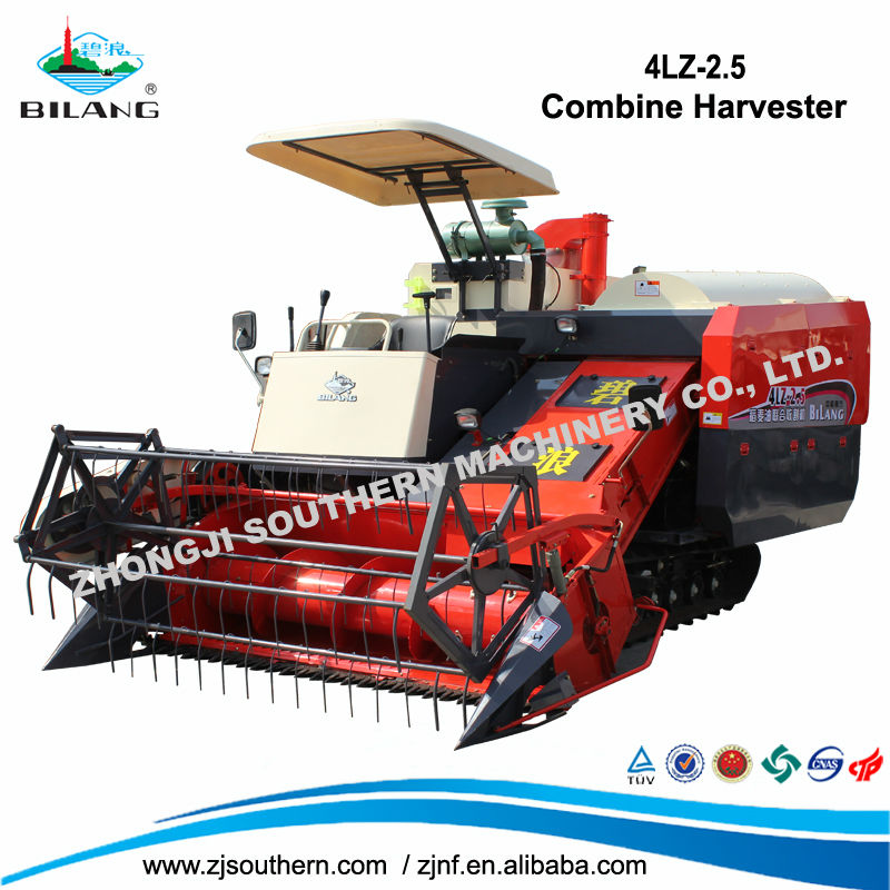 China Manufacturer Wheat Farm Combine Harvester With Rubber Track ...