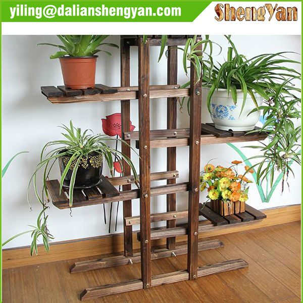 Plant Pot Stand Outdoor Part - 31: Wooden Flower Rack, Wooden Flower Rack Suppliers And Manufacturers At  Alibaba.com