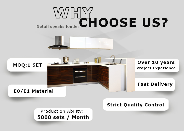Best price custom acrylic kitchen cabinets design with drawer