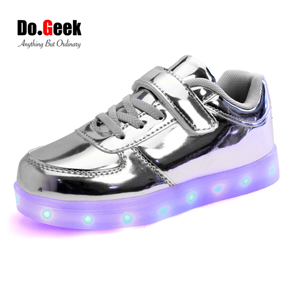 Lightup Shoes Size  For Boys Gold