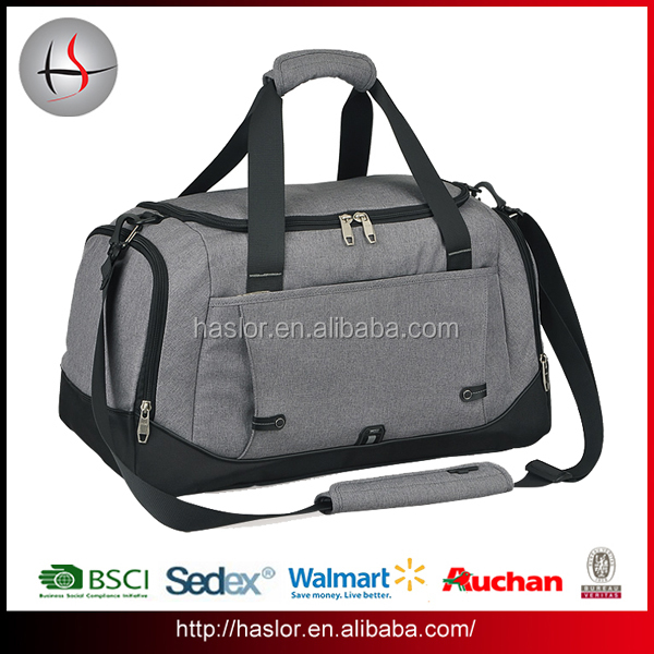 Large capacity durable men travel duffel bag with removable shoulder strap for men
