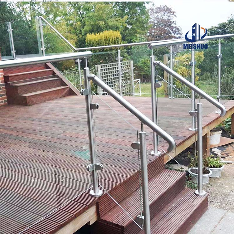 Stainless Steel Porch Railings Handrails With Gl Panel Product On Alibaba