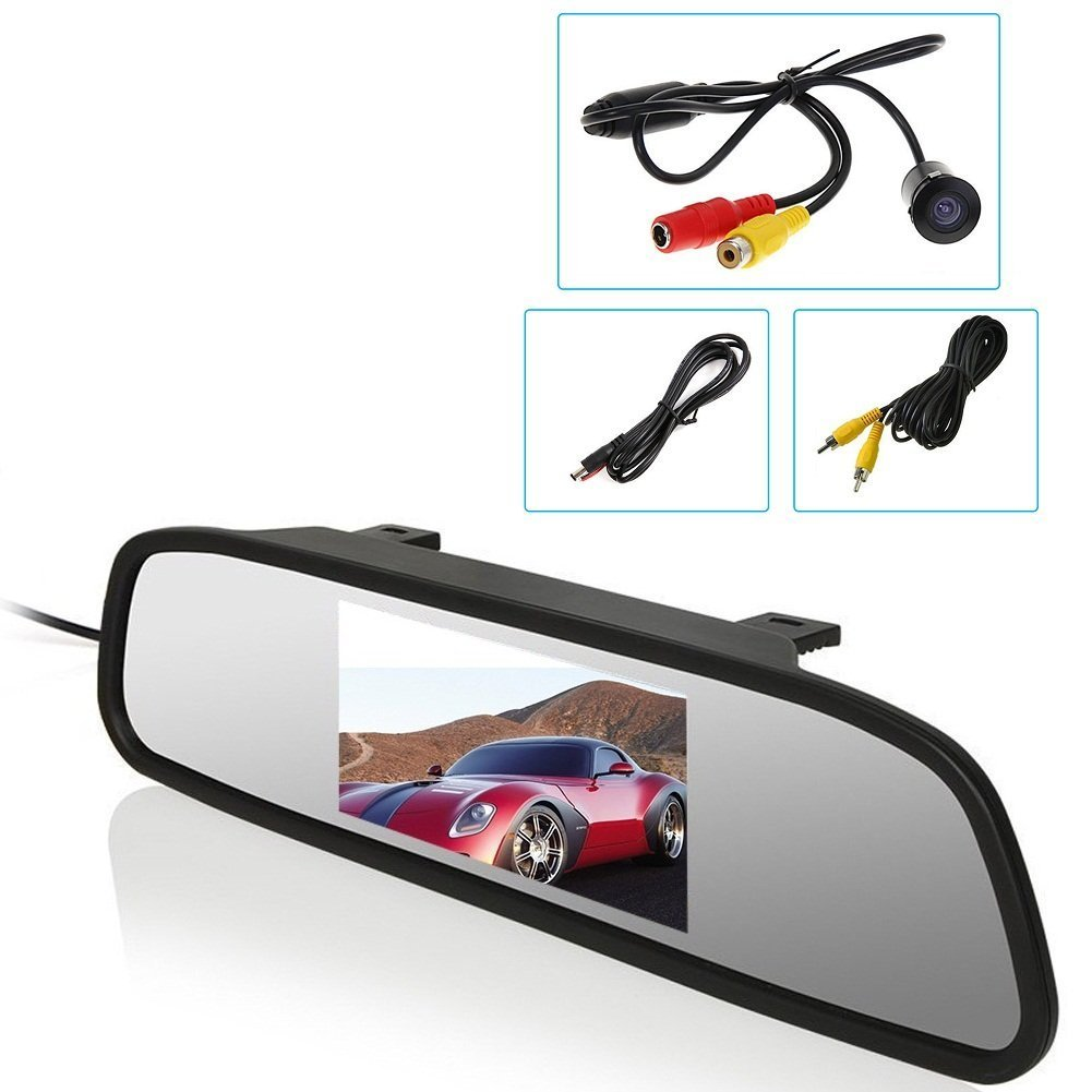 With Rearview Camera Colorful Display Car Screen System 4.3 Inch Car Monitor Mirror LCD Screen as Car Parking Assistant