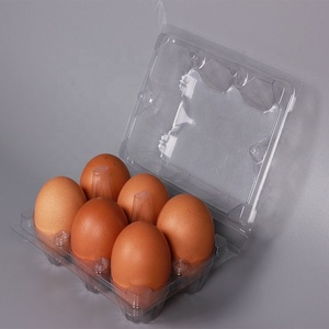PET/PVC egg clear plastic blister packing box for package