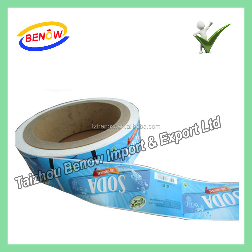 Environmental Friendly Ink Printing Transparent OPP Sticker Label by Roll with Hot Melt Glue