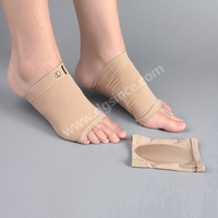 Amazon hot selling medical flat foot arch support socks with gel pad
