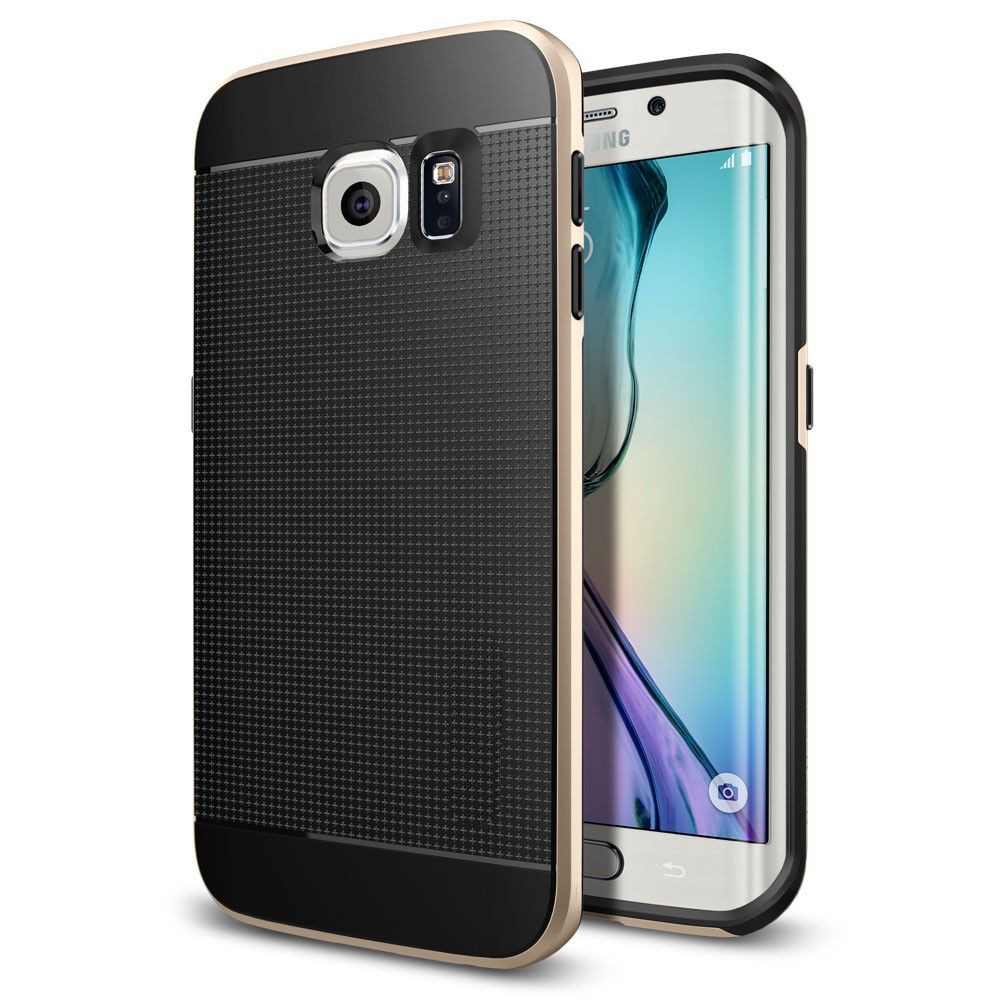 For Samsung Galaxy S6 Edge Case Hybrid [Bumper Case/ Slim <strong>Protective</strong>/ Firm Grip]