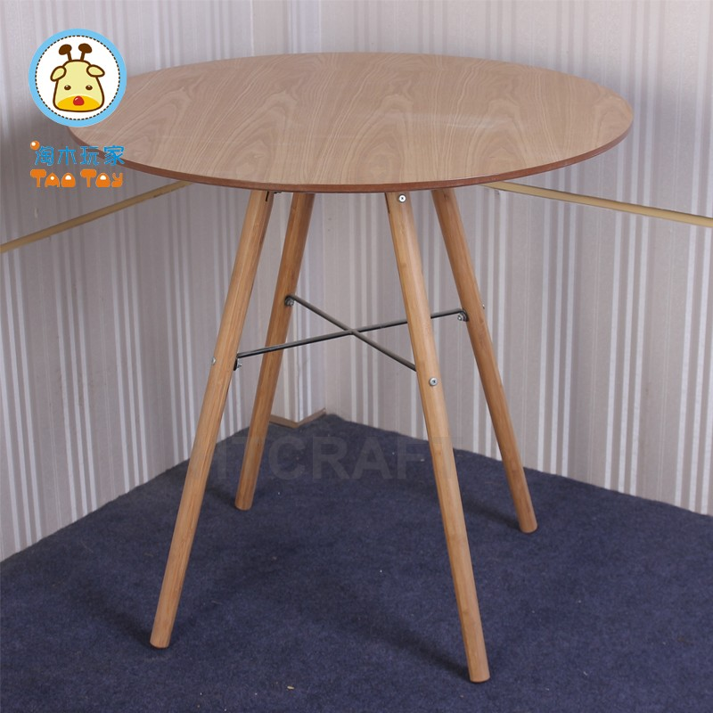 80cm Height Melamine Paper Natural Look Round Coffe Table/Wooden Coffe Table For Wholesale