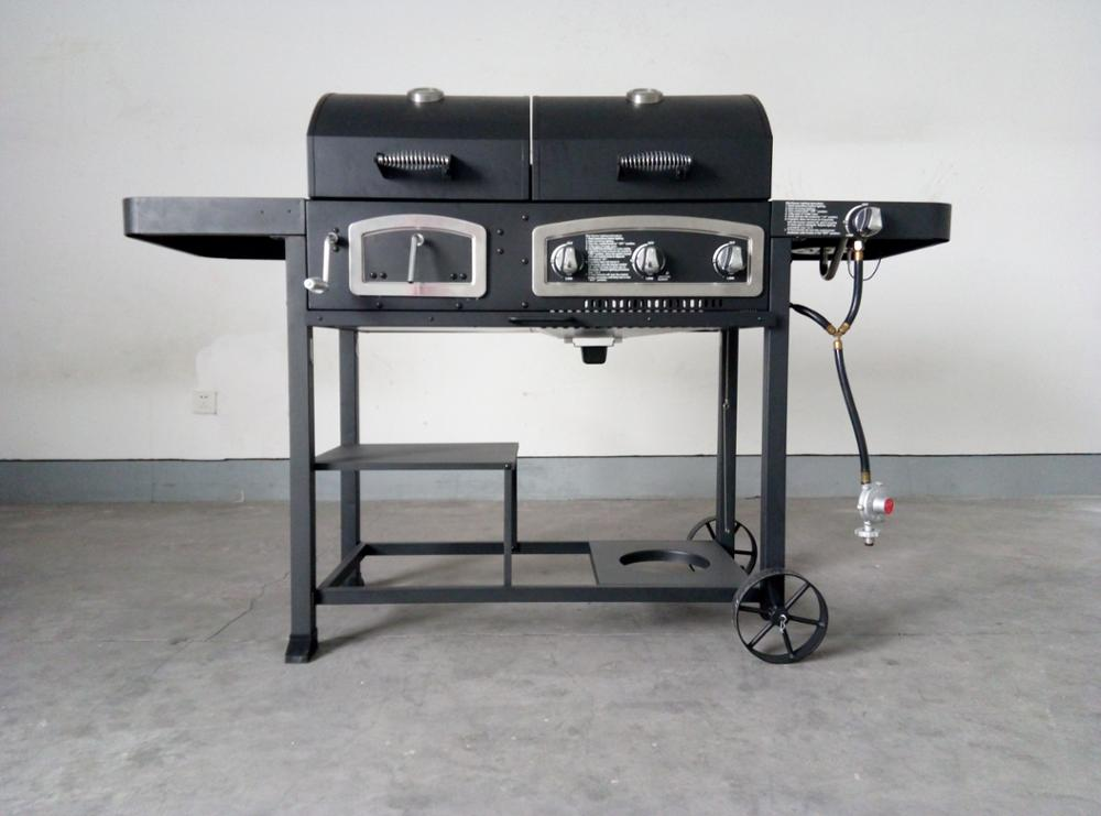 Gas Holzkohlegrill Kombination : Schickling grill im test kohle gas kombi made in germany