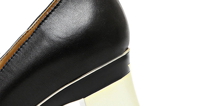 high Design chunky Sexy heel Changing black Shoes Cowskin removable Girls Latest adqCg1q