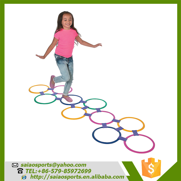 Kids game hopscotch rings, jump rings
