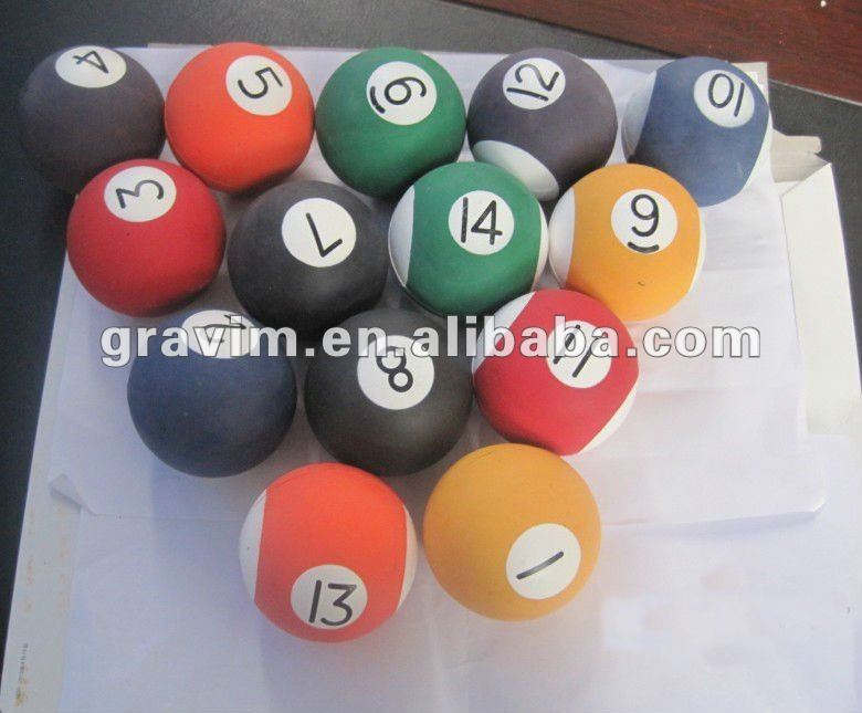 Billiards foam rubber ball