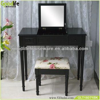 Negro Muebles De Madera Dormitorio Tocador Conjunto - Buy Tocador ...