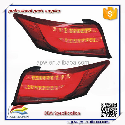 Auto Spare Part LED Tail Lights For Toyota Vios auto LED bar rear lamp 2013 UP