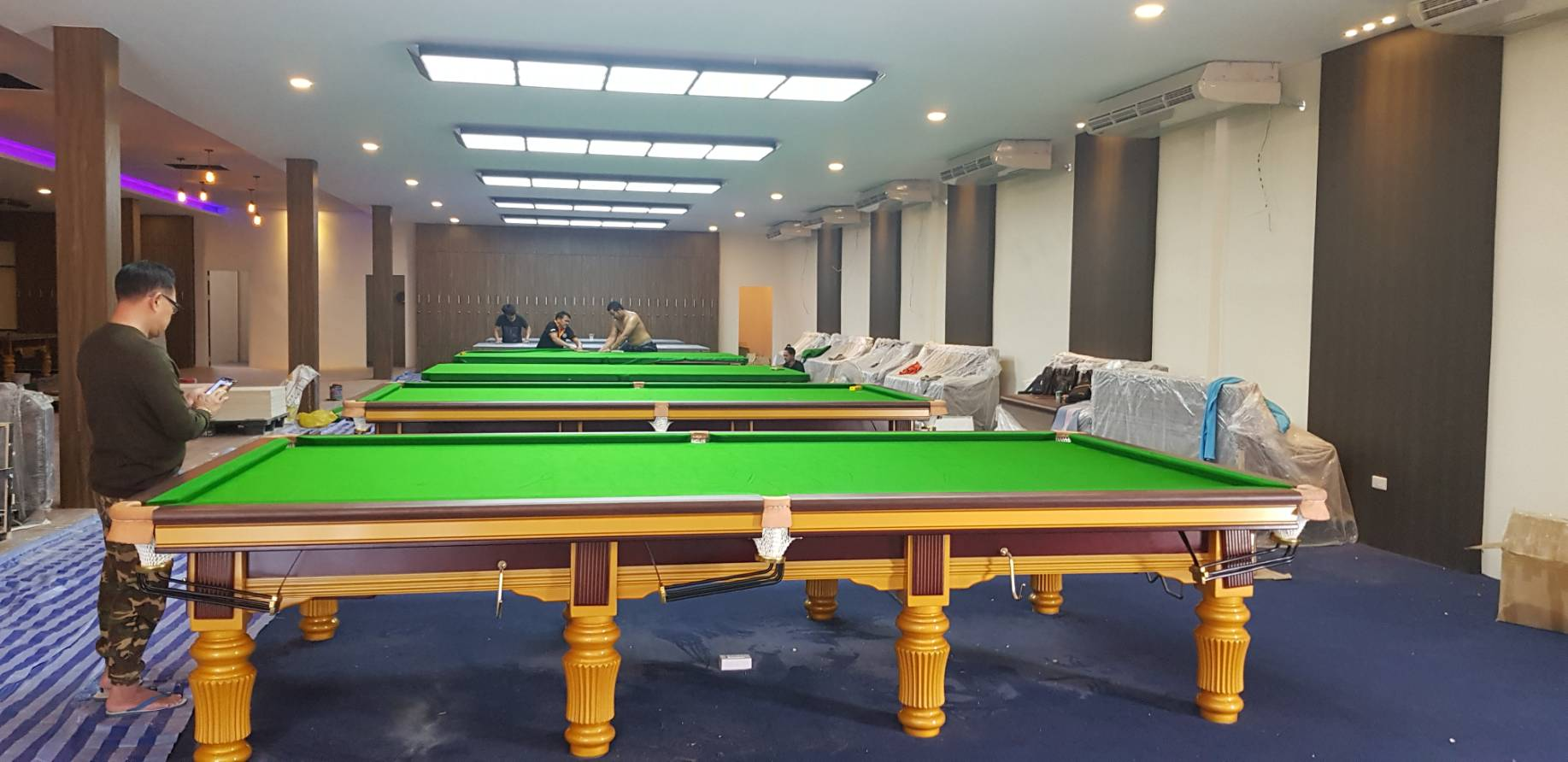 Tournoi Étoiles Jambe table de billard 12FT