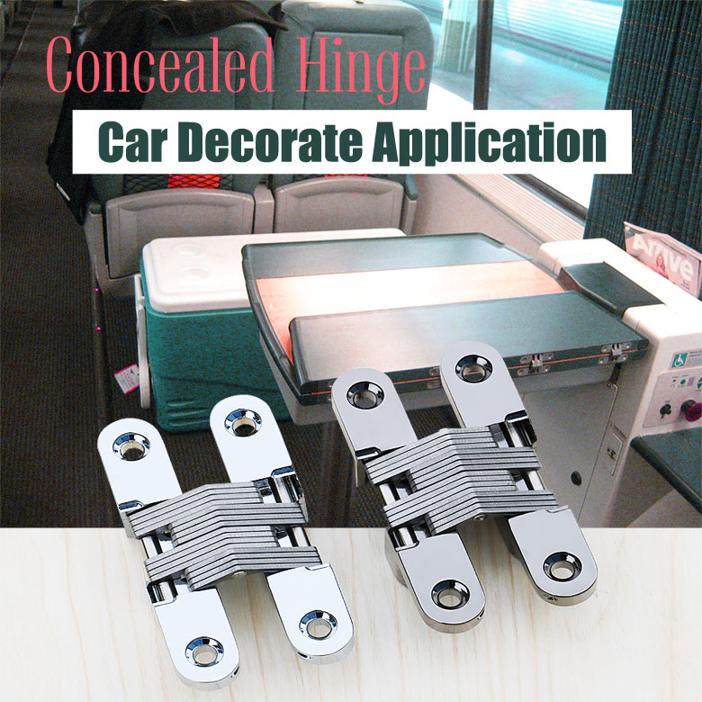 Car Decorate Application Concealed Hinge 180 degree invisible hinge soss hidden hinge