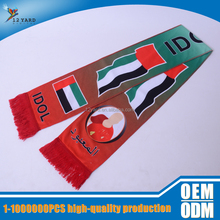 promotional double side printed national flag National Day knitting scarf for UAE
