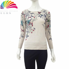 Latest producing custom floral women crop ladies fancy sweater