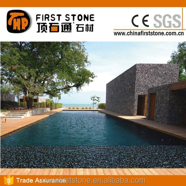 Absolute Black Basalt Garden Pebble Stone Decoration