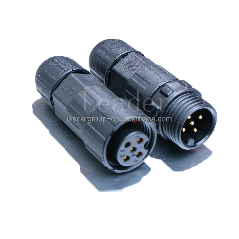 M16 Automation machine waterproof connector 5 pin electrical plug