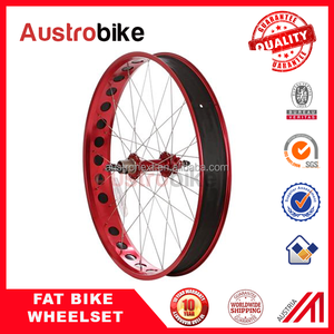 26er Alloy Fatbike Wheels 80mm width Clincher Fat Bike Wheelset