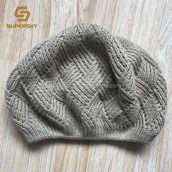 J232 Glittery French Beret Knit Woven Crochet Slouchy Beanie Ladies Womens  Hat Cap Slouchy Beret Hat 31575bd7297