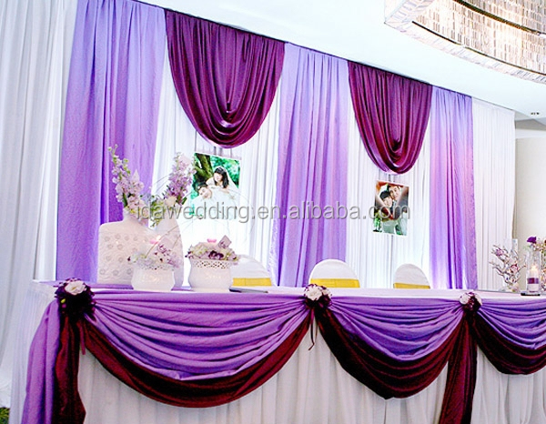 Asian Wedding Romatic Fantasy Atmosphere Luxury Prom Stage Cloth Wall Backdrop Decoration Purpledrape