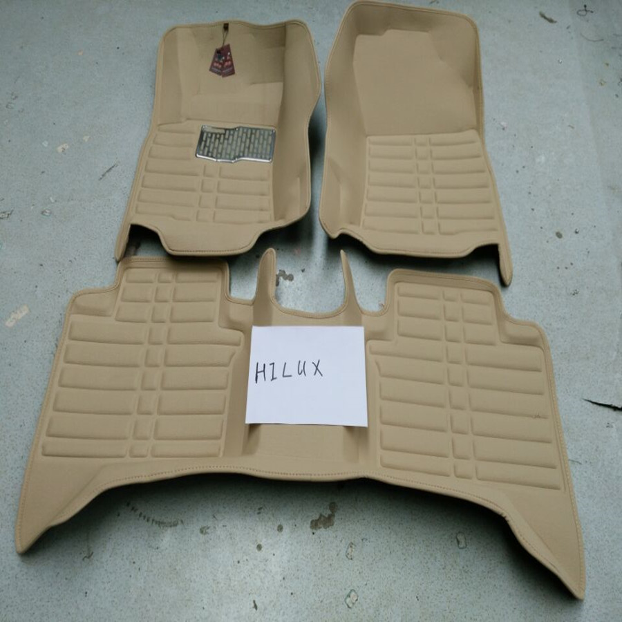 car floor cover, carpet, mat , foot mat for Hilux in beige color