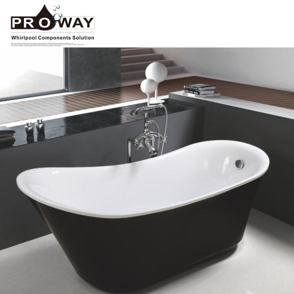 Mini Plastic Portable Bathtub For Adults Soaking Black Massage Bath Tub