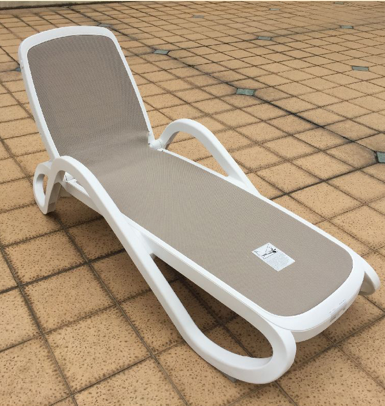Plastic mesh fabric outdoor poor chairs sun leisure beach chair