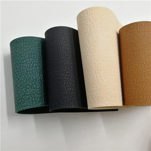 Higher cost performance eco Litchi grain cotton backing leatherette rolls PVC faux cow leather for tote bag man belt