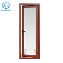 Ghana flush door aluminum frame frosted glass door