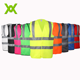 Alibaba wholesale EN471 funny road bicycle reflective multicolor high visibility security vests for sale